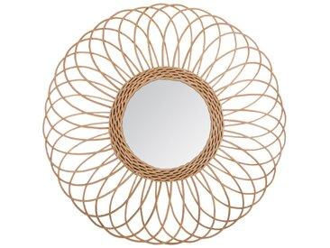 Miroir en rotin Rosace D58