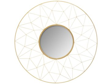 Miroir Graphique Or en métal D50