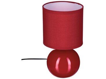 """Lampe """"Timeo"""" boule Rouge en céramique H25"""