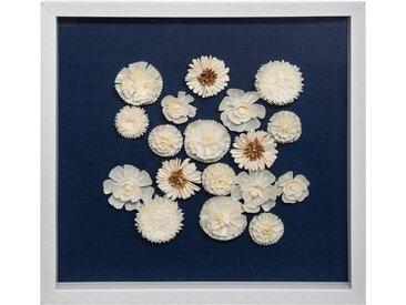 Cadre déco 3D Fleur 55x55