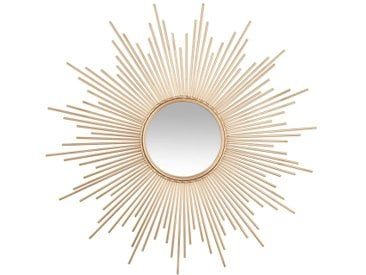Miroir soleil tube doré D99