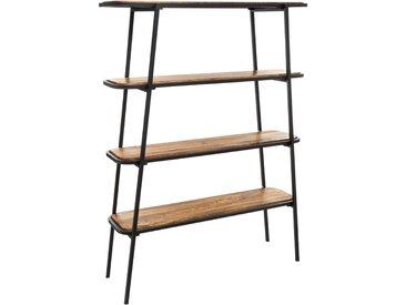 """Étagère """"Kalida"""" 4 niveaux en bois de manguier & acier"""