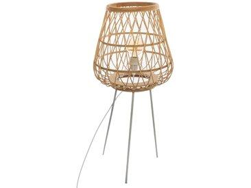 """Lampadaire """"Mina"""" trépied en bambou H76"""