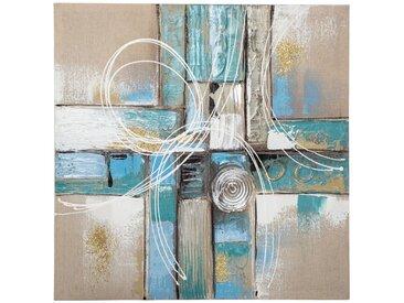 Toile peinte Abstrait Bleue 58x58