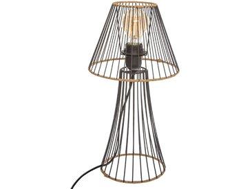 """Lampe """"Sisal"""" filaire en métal & en rotin H38,5"""