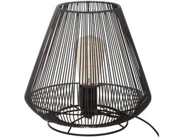 """Lampe """"Paule"""" filaire Noire en métalH26"""