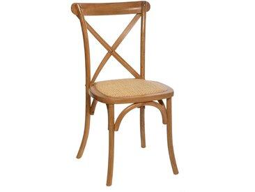 "Chaise de bistrot ""Isak"" en bois de chêne"