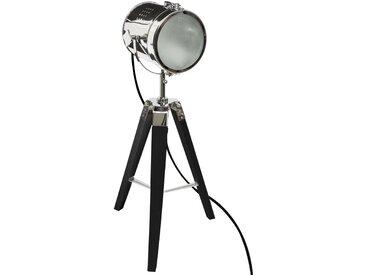 """Lampe """"Ebor"""" en métal & bois Noir H68"""