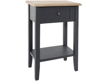 """Table de chevet Gris foncé """"Damian"""" 1 tiroir"""