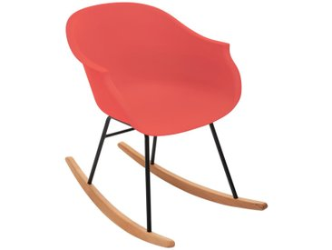 Rocking chair Terracotta en plastique