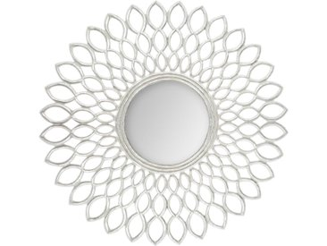 Miroir Fleur Argenté en bois MDF D90