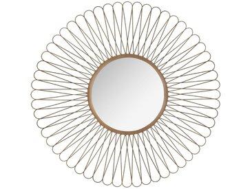 Miroir Soleil à boucles en métal D76