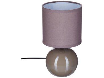 """Lampe """"Timeo"""" boule Taupe en céramique H25"""