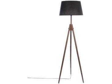 """Lampadaire """"Miry"""" Noir à trépied en bois H153"""