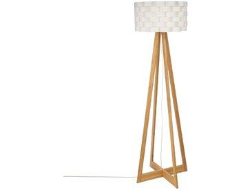 """Lampadaire """"Moki"""" Blanc en bambou H150"""