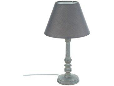 """Lampe """"Leo"""" Grise en bois H36"""