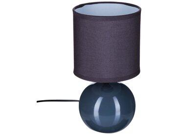 """Lampe """"Timeo"""" boule Grise en céramique H25"""