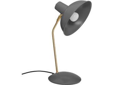 """Lampe à poser Grise """"Celia"""" en métal H38"""