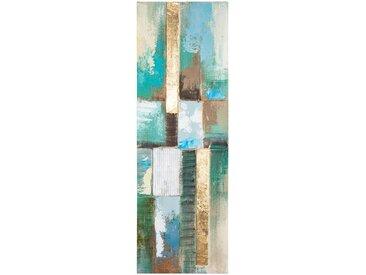 Toile peinte Abstrait Bleue 30x90