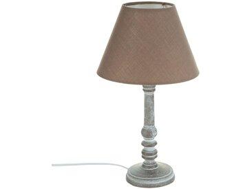 """Lampe """"Leo"""" Taupe en bois H36"""