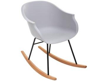 Rocking chair Gris en plastique