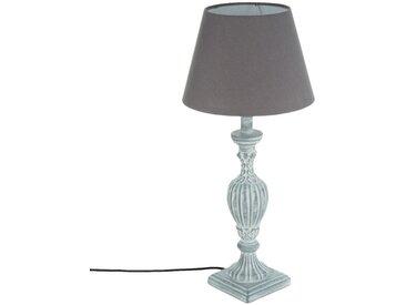 """Lampe """"Renzo"""" Grise en bois patiné H55"""