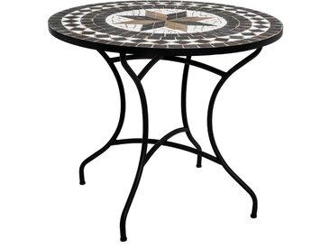 """Table à manger """"Kipos"""" mosaïque ronde D90"""