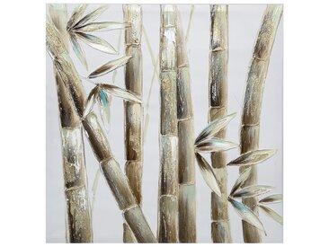 Toile peinte Bambou 58x58