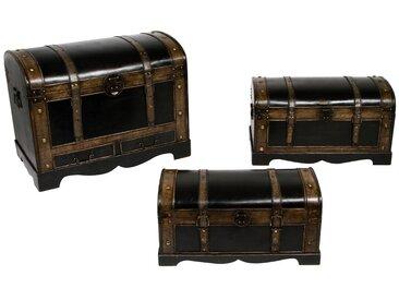 Lot de 3 malles en bois British Grand modèle
