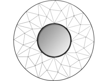Miroir Graphique Noir en métal D50