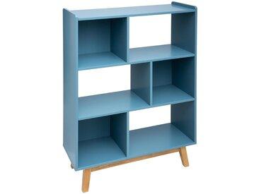 """Étagère Bleue """"Elva"""" 3 portes"""