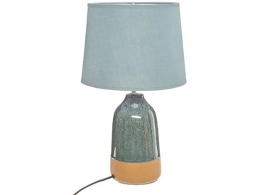 Lampe Bleue en céramique H43