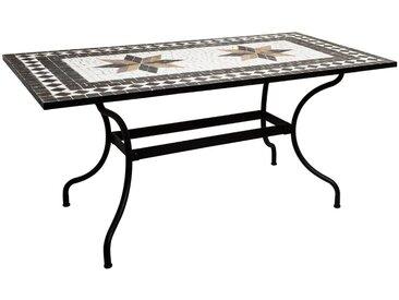 """Table à manger """"Kipos"""" mosaïque rectangle160x90"""