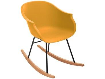 Rocking chair Moutarde en plastique