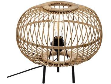 """Lampe à poser trépied """"Eads"""" en bambou"""