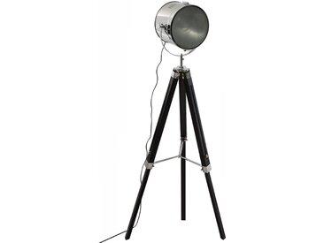 """Lampadaire """"Ebor"""" en métal & bois Noir H152"""