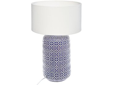 """Lampe """"Borja"""" cylindre en céramique H52,5"""