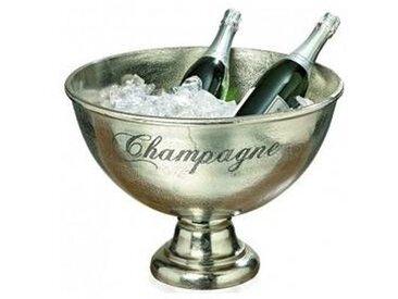 Grand Seau à Champagne en Aluminium Argenté