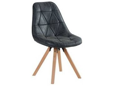 Lot de 2 Chaises scandinaves noires  Chaise CASITA