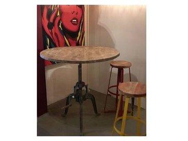 Table bar industrielle a manivelle réglable  atelier grey'