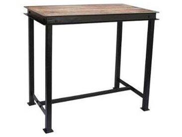 Table haute métal et bois 150x80cm  IPN