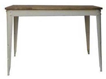 Table haute snack bar loft 150x80 cm  Nola blanc