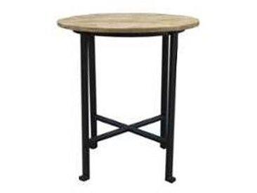 Table de bar ronde en métal et bois 100cm  Vegas