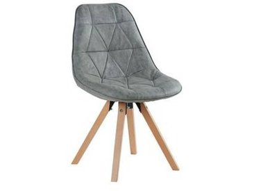 Lot de 2 Chaises scandinaves grises  Chaise CASITA