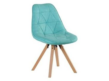 Lot de 2 Chaises scandinaves turquoises  Chaise CASITA