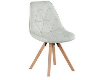 Lot de 2 Chaises scandinaves Blanc neige  Chaise CASITA