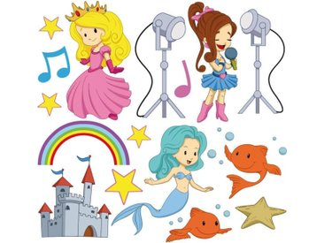 Stickers fille 30x30cm