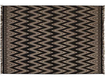 Tapis chevrons noir 200 x 290 cm MISSO