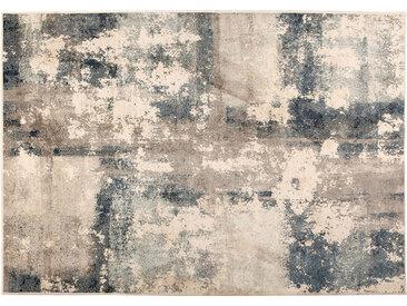 Tapis bleu beige effet vieilli 160 x 230 cm KIKA