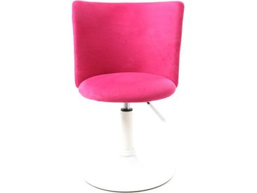 Chaise de bureau enfant rose et blanche NEW MARCHANDE